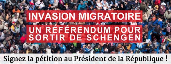 Invasion migratoire : un référendum pour sortir de Schengen